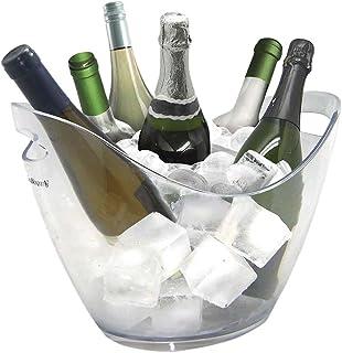 Vinbouquet Vin Bouquet FIE 029 Seau à glaçons, 6, idéal pour Refroidir Vos Bouteilles en Couleur Claire, Plastic, Transpar...