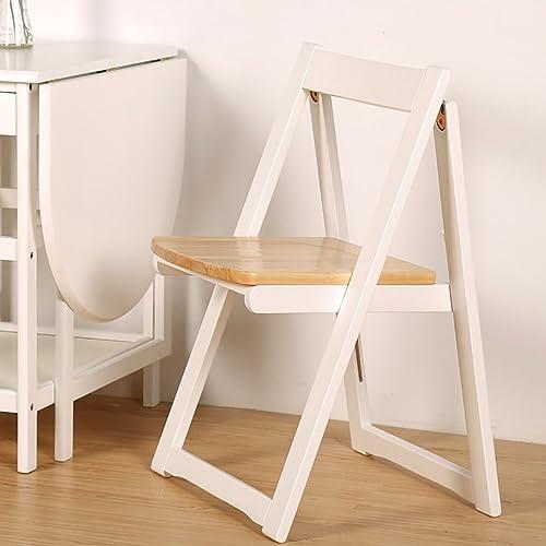 QRFDIAN Chaise de Salle à Manger Chaise en Bois Massif Chaise de Bureau pour Adultes Chaise de Salle à Manger Nordique Chaise Pliante Convient pour la Famille en Plein air (Couleur   B)