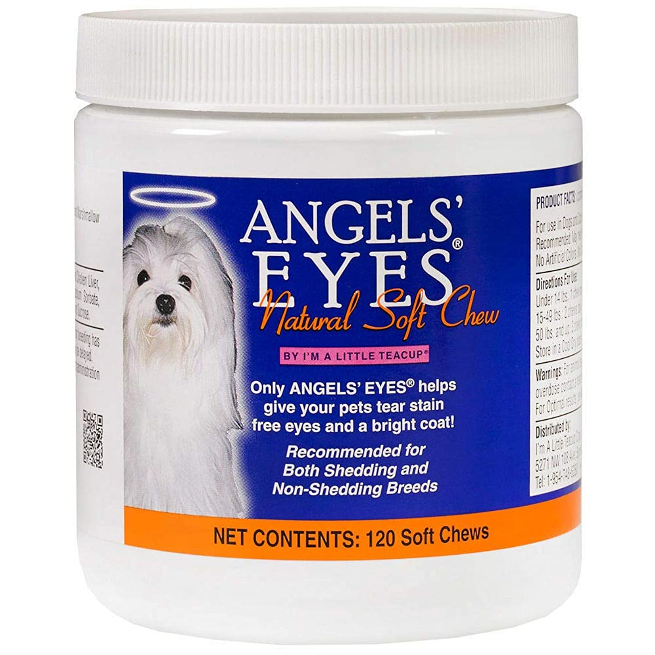 Angel's Eyes Natural Stain Remover Soft Chews for Dogs 120ct
