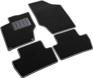 Das Teppich Auto, sprint00607, Fußmatten Teppiche Schwarz rutschfest, verstärkter Rand, zweifarbig, Absatzschoner aus Gummi, C4ab 2010>, DS4ab 2011>.