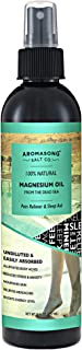 Extra Strength Ultra Pure Magnesium Oil Spray (23MG OF MAGNESIUM IN EACH SPRAY) 8 OZ, Fast-Acting Joint Pain, Headache, Muscle Cramps, Restless Leg Syndrome Relief - Natural Calming Sleeping Well Aid.
