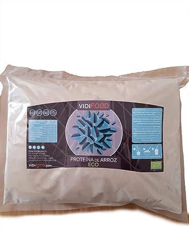 Proteína de Arroz ECO en Polvo | 1kg | Aumento de masa muscular y energía | 80% de proteínas y aminoácidos esenciales para el apoyo inmunológico | ...