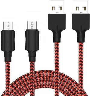 Yosou Cavo Micro USB [2 Pezzi, 2M] Cavo USB Micro USB Nylon Intrecciato Cavo Android Trasferimento Dati e Ricarica Rapida ...