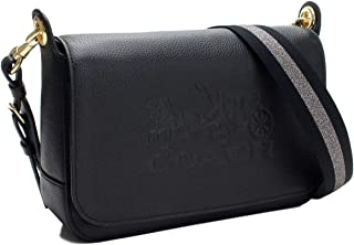 Coach Jes Messenger leather bag Black embossed