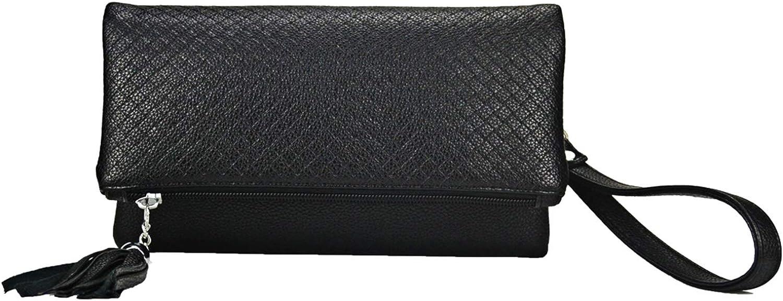 Women Triple Compartment Tassel Clutch Small Foldover Purse Cute fringe Crossbody bag Classic HandbagSibalasi
