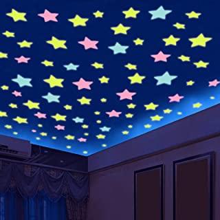 500Pcs Glow in The Dark Stickers, Luminous Dots Stars and Moon Wall Stickers Decor for Kids Bedroom or Birthday Gift Wall ...