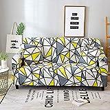 Funda de sofá Moderna geométrica a Prueba de Polvo elástica Flor sofá Toalla Muebles de Sala Cubierta Protectora A28 2 plazas