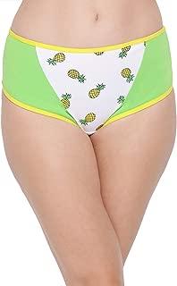 Clovia Women's Cotton Mid Waist Pineapple Print Hipster Panty