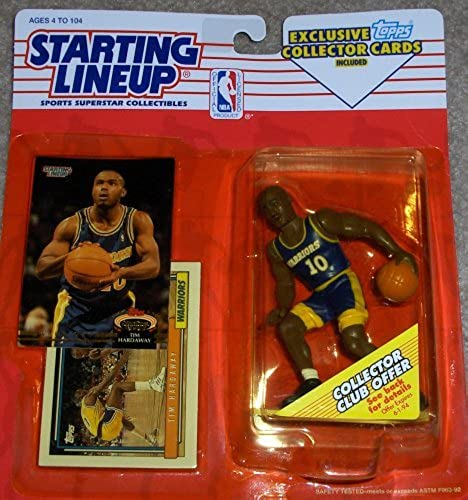 1993 Starting Lineup Tim Hardaway Collectible Figure & 2 Cards by Starting Line Up