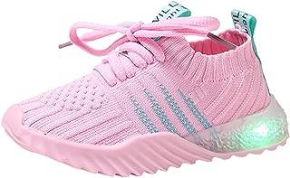 Teen Toddler Baby Boys Girls LED Running Sneakers,for 0-6 Years Old,Children Light Up Anti-Slip Sport Shoes