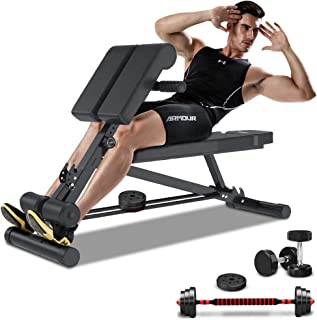 YOLEO Adjustable Weight Bench- 500lbs Utility Bench for Full Body Workout; Multi Purpose Incline&Decline Fitness Bench for Strength Training; Sit Up Abs All-in-One Hyper Back Extension Exercise Bench