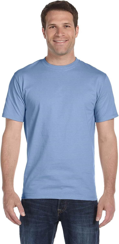 Hanes Men's ComfortSoft 6 Pack Crew Neck Tee - Pale Pink/Light Blue - 3XL