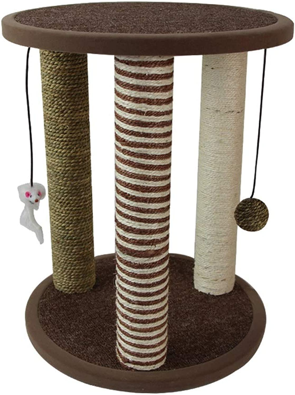 HTMAL Sisal Cat Climbing Frame Cat Scratch Board Hammock Cat Litter Claw Cat Jumping Platform Cat Tree Cat Toy Supplies Can Be Used As A Stool Or In A Bedside Table.