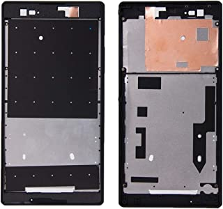 Repair tools,Completely fit and work Replace the old one Front Housing with Adhesive Sticker for Sony Xperia T2 Ultra(Black) (Color : Black)