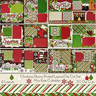 Printed Layout & Die Cuts Kit - Christmas Basics Layouts - by Miss Kate Cuttables - 6-2 Page 12