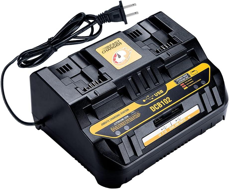 Hipoke DCB102 DCB102BP Dual Dewalt 20V mart Compatib Our shop OFFers the best service Charger Battery
