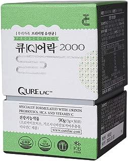 QURELAC 2000 Diet Probiotics, Slimming, Weight Loss, and Bowel Movement for Men & Women / 3g * 30 Count/Support Digestive, 200 Billion Lactobacillus