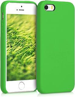 kwmobile telefoonhoesje compatibel met Apple iPhone SE (1.Gen 2016) / 5 / 5S - Hoesje met siliconen coating - Smartphone c...