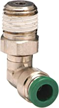 Parker Hannifin W169PLP-2-4 Prestolok PLP Nickel Plated Brass Male Elbow Swivel 90 Degree Push-to-Connect Fitting, 1/8