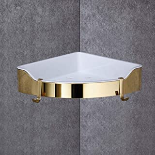 バスルームの棚 ルームトイレ壁掛け浴室ラックバスルームリビングルームキッチンディスプレイラックシャワー 浴室用ラック (色 : One golden, Size : M)