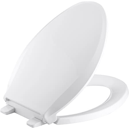 Ram/® Black Soft Close Toilet Seat with Adjustable Hinges LOO Toilet Seat Quick Release Easy Clean Bathroom Toilet Seat Black