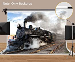 MEETS 10x7ft Vintage Railway Backdrop Train speeding Photography Background Themed Party Photo Booth YouTube Backdrop NANMT194