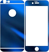 Dreams Mall(TM)Electroplating Mirror Effect Tempered Glass Screen Protector Film Decal Skin Sticker for Apple iPhone 6 Plus 5.5 inch-Sapphire