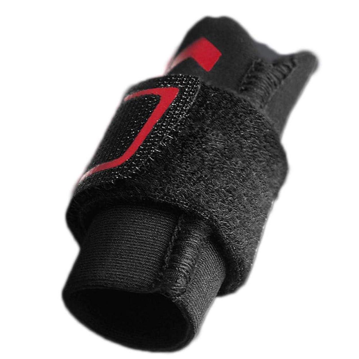 目を覚ます受動的ヒール指の損傷のサポート、指スリーブのサポートプロテクターの指の添え木、調整可能なベルクロ、関節痛の緩和,M
