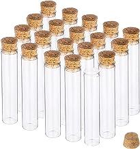 BENECREAT 20 Pack 30ml Botella de Vidrio Transparente con Corcho para Manuaildad de Artesanía Decoración de Boda y Fiesta 13x2cm