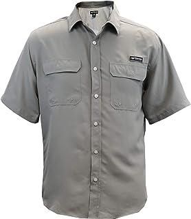 Men's Mossy Oak Short Sleeve Button Down Fishing Shirt