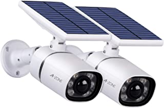 Solar Lights Outdoor Motion Sensor- 6 LED Spotlight 800Lumens 5-Watt Solar Lights Outdoor IP66 Waterproof, Wireless Solar Flood Light for Garden Porch Patio Driveway Pathway, Aluminum,Pack of 2(White)