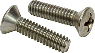 300 Series Stainless Steel Pan Head Machine Screw Meets MS-51957 Pack of 25 1//4-20 Thread Size 5//16 Length Small Parts MS51957-76 5//16 Length Fully Threaded Passivated #3 Phillips Drive 1//4-20 Thread Size USA Made