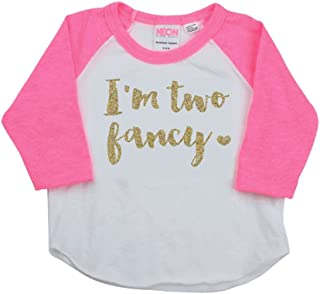 2 Year Old Birthday Girl Shirt, Pink and Gold Second Birthday Outfit