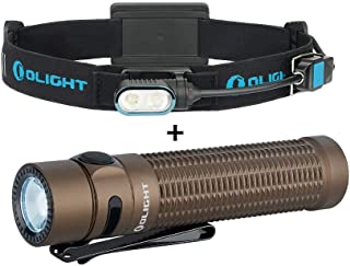 Image of OLIGHT Array 400 Lumens Ultralight USB Magnetic Rechargeable Headlamp Bundle Warrior Mini Desert Tan 1500 Lumens Tactical Rechargeable Flashlight for Household Search, Outdoors Hunting, Rescue