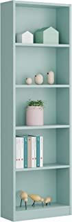 Miroytengo Estantería o librería Juvenil Dormitorio Infantil Color Verde 5 baldas 52x180x25 cm