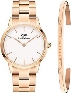 Daniel Wellington Unisex Iconic Link Watch and Classic Bracelet Gift Set, 36mm, Rose Gold