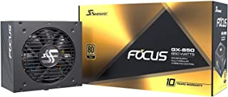Seasonic FOCUS GX-850, 850W 80+ Gold, Full-Modular, Fan Control in Fanless, Silent, and Cooling Mode, Perfect Power Supply...