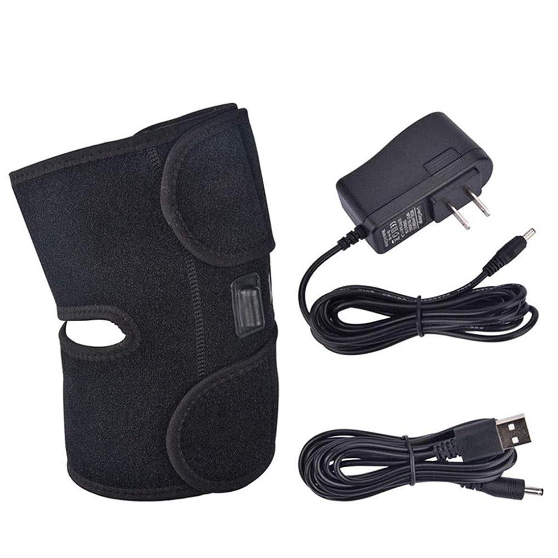 伝える見つけるこどもセンターヘルスケア電気加熱療法膝マッサージ、USBコンプレッサーホット電熱リハビリテーション理学療法機器調節可能な温度