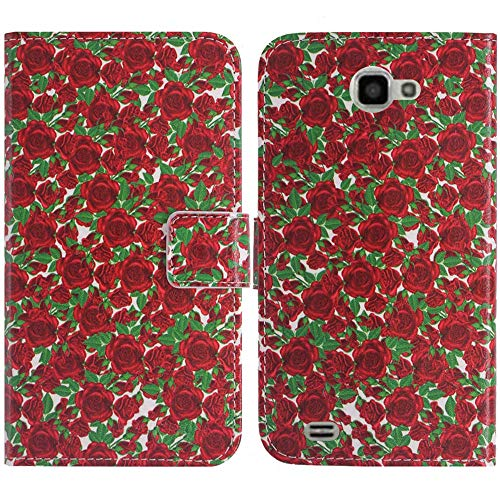 TienJueShi Rosa Flower Fashion Stand Book Stand Flip PU Leather Protector Phone Case for ANS UL40 4 inch Cover Etui Wallet