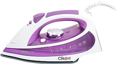Clikon Steam Iron 220-240V 50/60 Hz,Purple - Ck4114