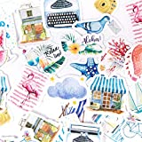 BLOUR Álbum Diario Forest Stickers Set Papelería Decorativa Stickers Scrapbooking DIY Diary Album Stick Lable 46 Piezas/Caja