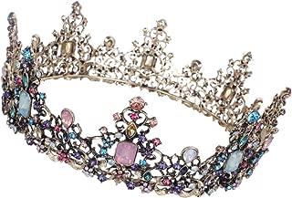 Bride Wedding Crown - Baroque Queen Tiaras Crystal Rhinestone Bridal Headband Fashion Jewelry Women Hair Accessories for Wedding, Costume Party - Cake crown decoration