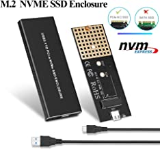 M.2 NVME Enclosure, Electop USB 3.1 to Type C Adapter PCIe 10Gbps Gen 2,Support Most PCIe NVMe M.2 M Key SSD of 2230/2242/ 2260/2280,Solid Mobile Hard Disk Box