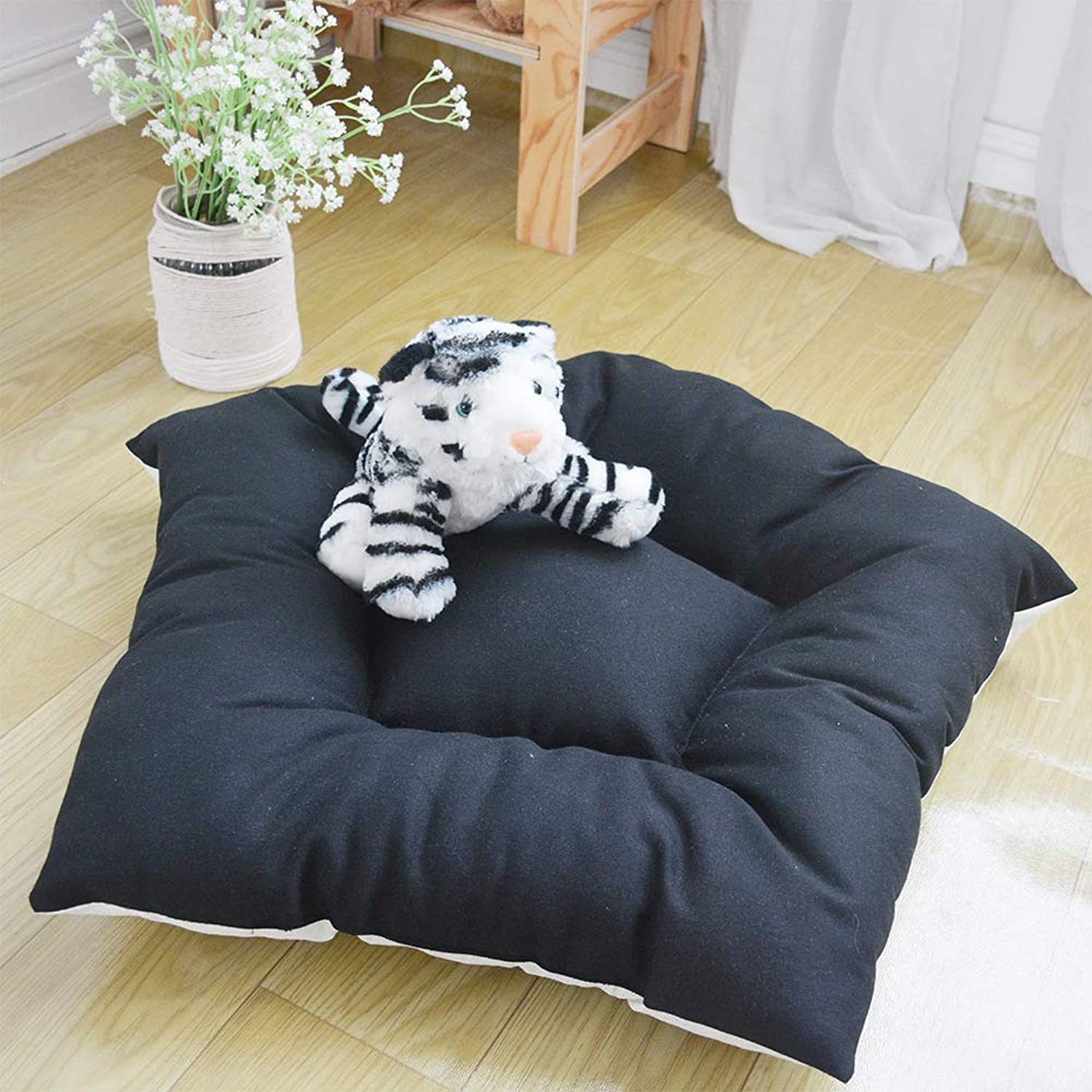 CSDAVIP Teddy Dog Cushion New Winter Dog House Pet Bread Cushion Dog Cotton Cushion Winter Cat Cushion VIP Teddy Dog Cushion,Spot a bun