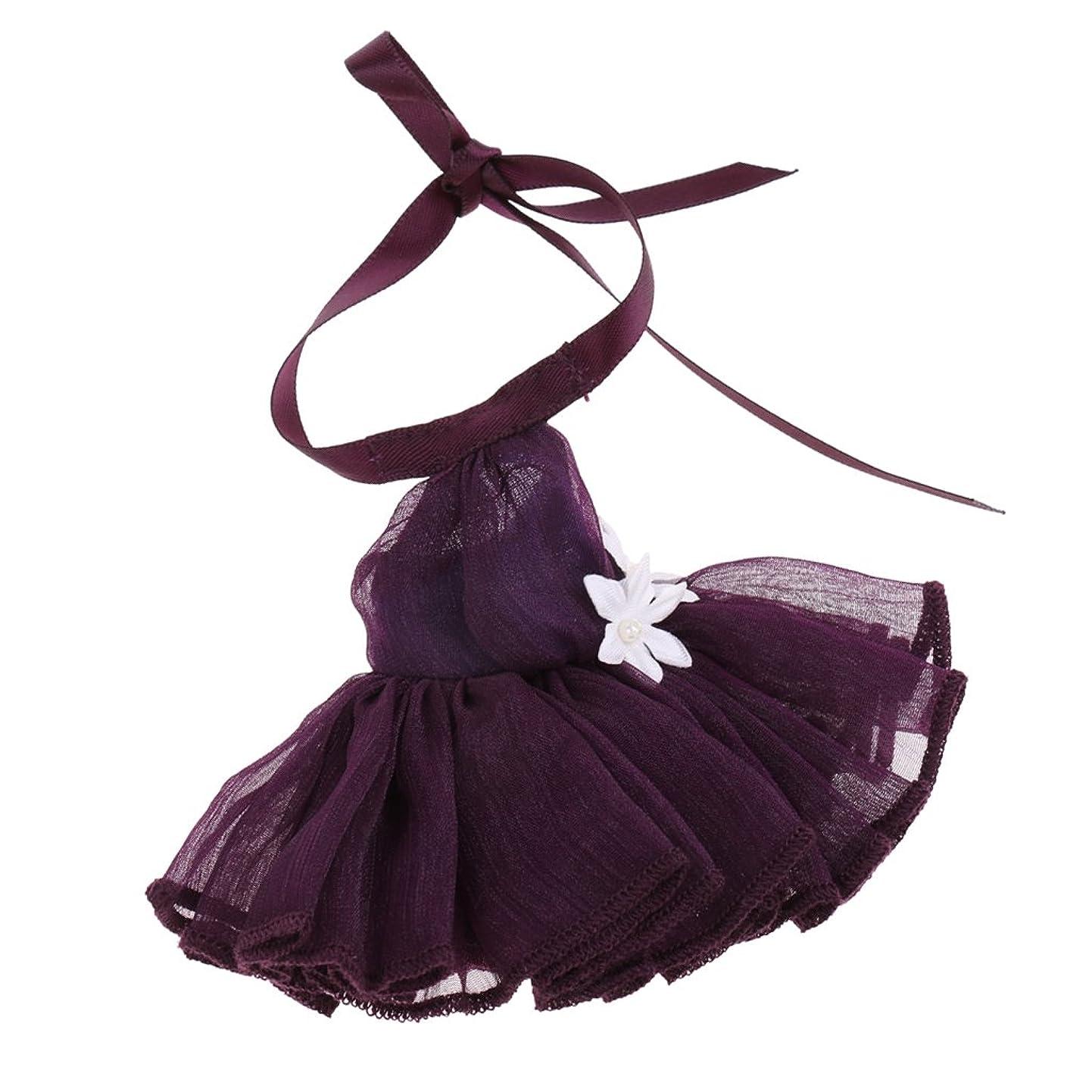 クリープ可塑性計算可能T TOOYFUL 20cmタカラミディブライスドールアクセサリー用プリティドレススカート服装 - 紫