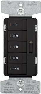 Eaton's Wiring Devices PT18H-BK 1800W 15 Amp 5-Button Hour Timer with Off Single-Pole, Black