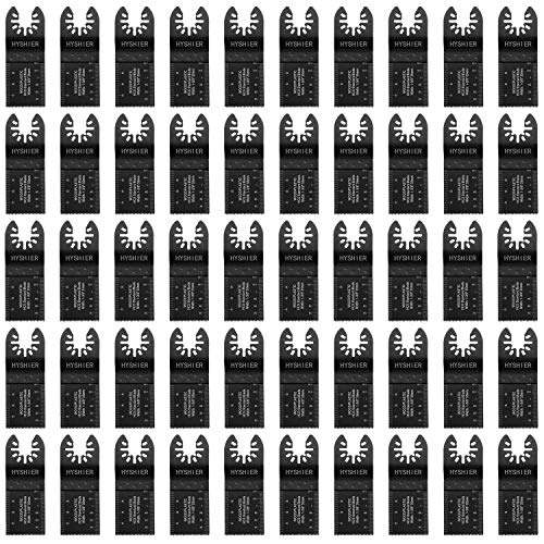 50 Pcs Oscillating Tool Blades, Professional Universal Oscillating Saw Blades, Wood Multitool Blades, Quick Release Durable Oscillating Tool, Multi Tool Blades Fit All Models