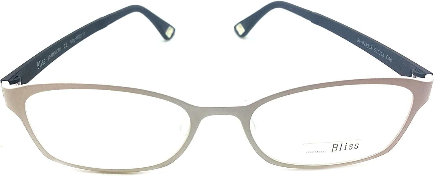 Bliss Prescription Eye Glasses Frame Ultem Super Light, Flexible 3003 C46