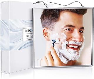 مرآة استحمام مضادة للضباب من انوبيتا للحلاقة وتنظيف الوجه، مرآة استحمام مضادة للضباب بحجم أكبر (17 سم × 17 سم)، سهلة الاست...