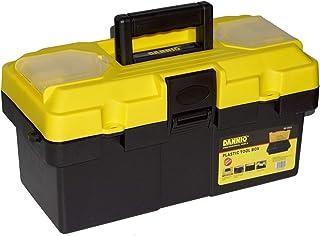 DANNIO 19 inch Pro Box, Plastic Tool Box with Handle, Portable Tool Case with Locking Lid, Tool Storage Organizer (8819)